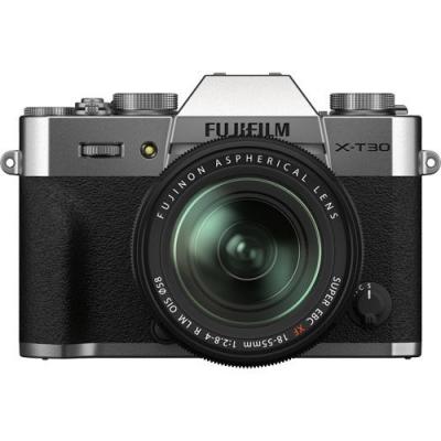 FUJIFILM X-T30 II Mirrorless Kit Silver w/XF 18-55mm f2.8-4.0 R LM OIS Lens