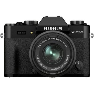 FUJIFILM X-T30 II Mirrorless Kit Black w/XC 15-45mm f3.5-5.6 OIS PZ Lens