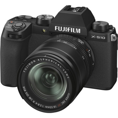 FUJIFILM X-S10 Mirrorless Kit w/XF 18-55mm f2.8-4.0 R LM OIS Lens