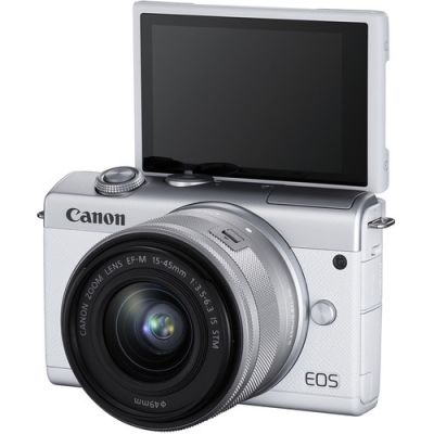 CANON EOS M200 WHITE WITH 15-45MM LENS KIT