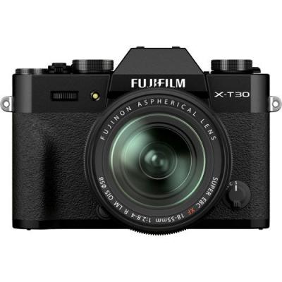 FUJIFILM X-T30 II Mirrorless Kit Black w/XF 18-55mm f2.8-4.0 R LM OIS Lens