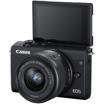 CANON EOS M200 BLACK WITH 15-45MM LENS KIT